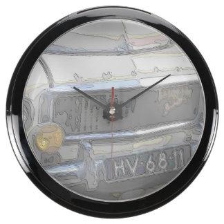 Vintage Swedish Car detail Aquarium Clock