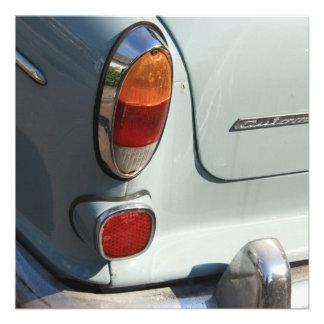 Vintage Swedish Car detail Custom Announcement