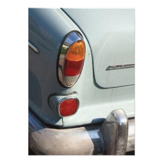 Vintage Swedish Car detail Personalized Announcement