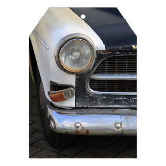 Vintage Swedish Car detail Personalized Invitations