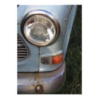 Vintage Swedish Car detail Invites