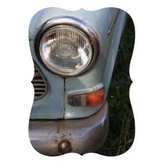 Vintage Swedish Car detail Personalized Invites