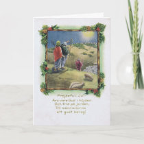 Vintage Swedish Christmas Card with Shepherds