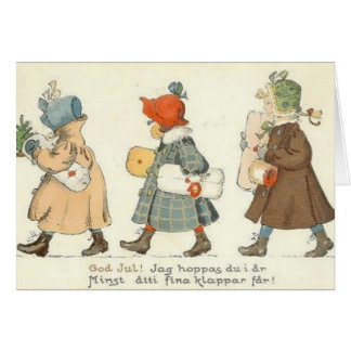 Vintage Swedish Christmas Greeting Card