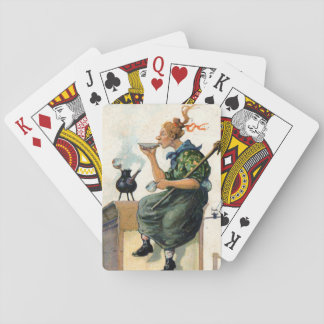 Vintage Swedish Easter painting deck Playing Cards