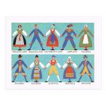 Vintage Swedish regional costumes Postcards