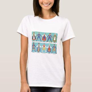 Vintage Swedish regional costumes T-Shirt