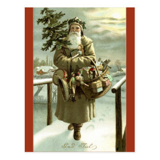 Vintage Swedish Santa Claus Image Postcard