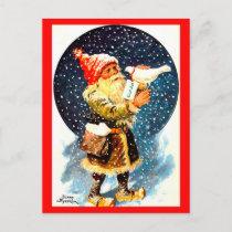 Vintage Swedish Tomte Christmas Gnome Postcard