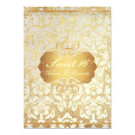 Vintage Sweet 16/ princess/pearl damask 5x7 Paper Invitation Card