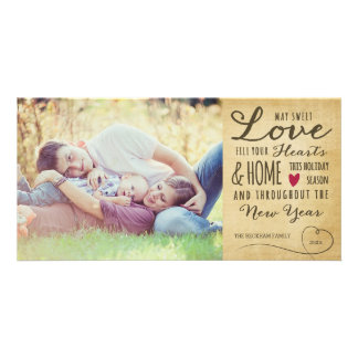 Vintage Sweet Love Holiday Photo Card