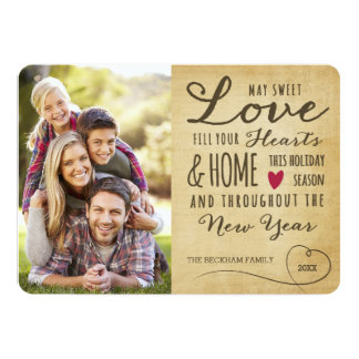 Vintage Sweet Love Holiday Photo Card