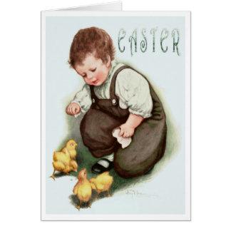 """VINTAGE """"SWEET 'N SPRINGY"""" EASTER GREETING CARD"""