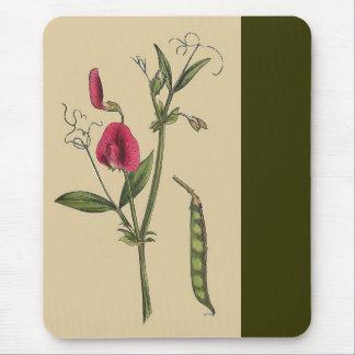 Vintage Sweet Pea Flowers Mousepad