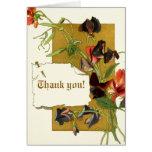 Vintage sweet pea flowers wedding Thank You Card