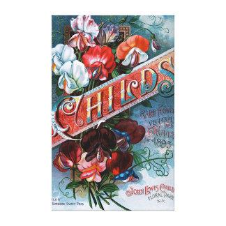 Vintage Sweet Peas Canvas Print