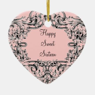 Vintage Sweet Sixteen Ornament