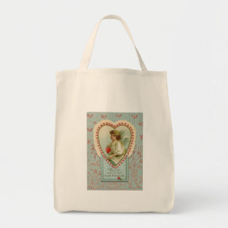 vintage Sweet tiny hearts Valentine on lace Tote Bag