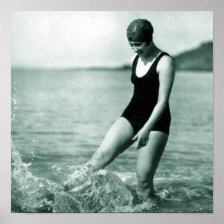 Vintage Swimmer Poster
