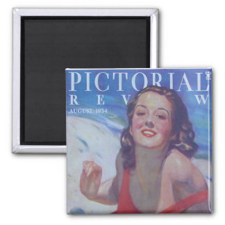Vintage Swimsuit 1934 2 Inch Square Magnet