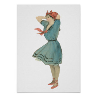 Vintage Swimsuit Girl Poster