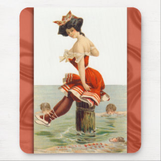Vintage Swimsuit Illustration Mousepad