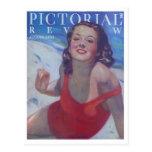 Vintage Swimsuit Style 1934 Postcard