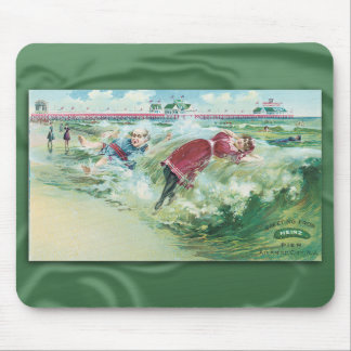 Vintage Swimsuit Trade Card Mousepad