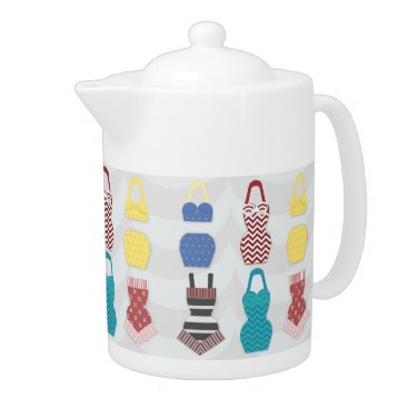 Beach Themed Vintage Swimsuits Teapot