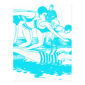 Vintage Swimwear Postcard