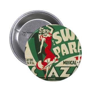 "Vintage ""Swing Parade"" Badge Button"