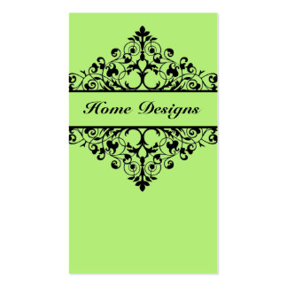Vintage Swirl Lime Green Business Card