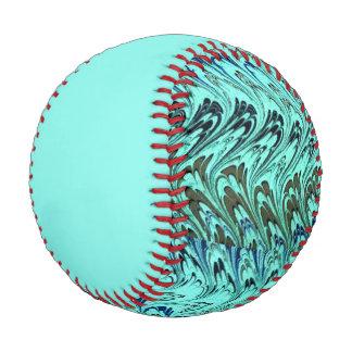 Vintage Swirl Waves Teal Baseball