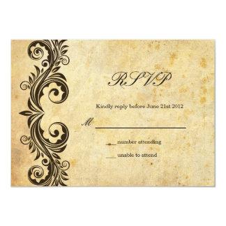 Vintage Swirl Wedding RSVP Card