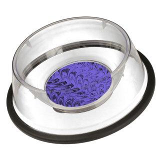 Vintage Swirls Blueberry Purple Waves Pet Bowl