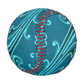 Vintage Swirls Curlicue Teal Turquoise Peacock Baseball