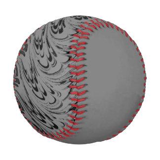 Vintage Swirls Gray Black Waves Baseball