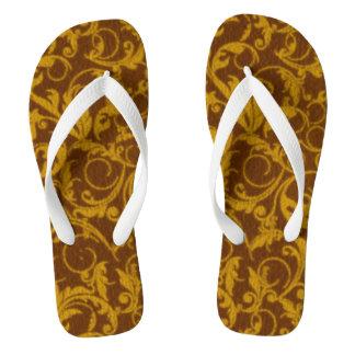 Vintage Swirls Mango Cinnamon Flip Flops