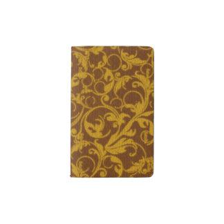 Vintage Swirls Mango Cinnamon Pocket Moleskine Notebook Cover With Notebook