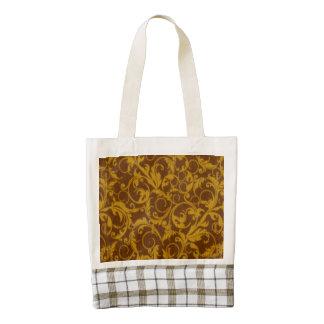 Vintage Swirls Mango Cinnamon Zazzle HEART Tote Bag