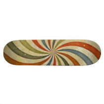 Vintage swirls pattern skateboard