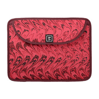 Vintage Swirls Red Macbook Pro Flap Sleeve Sleeve For MacBook Pro