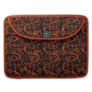 Vintage Swirls Tangerine Macbook Pro Flap Sleeve MacBook Pro Sleeves