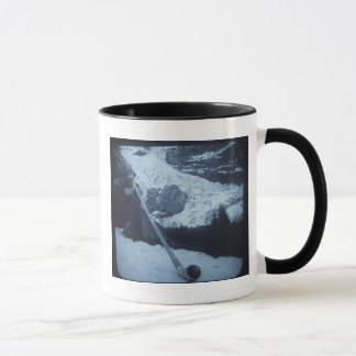 Vintage Swiss Alphorn Blower Magic Lantern Slide Mug
