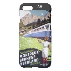 Vintage Swiss Alps Travel Iphone 8/7 Case at Zazzle