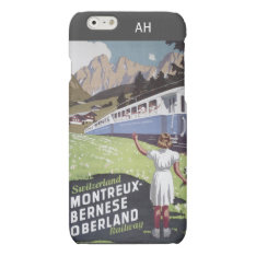 Vintage Swiss Alps Travel Matte Iphone 6 Case at Zazzle