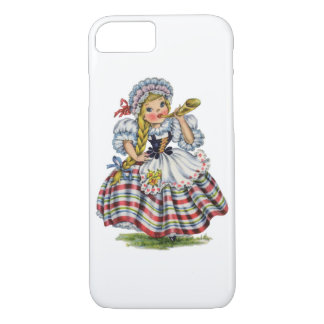 Vintage Swiss Doll iPhone 8/7 Case