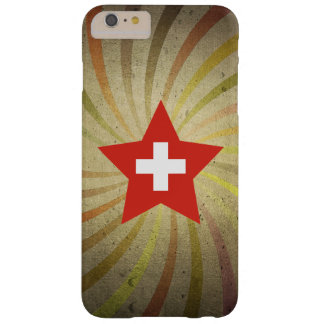 Vintage Swiss Flag Swirl Barely There iPhone 6 Plus Case