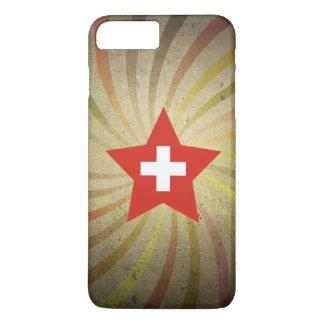 Vintage Swiss Flag Swirl iPhone 7 Plus Case