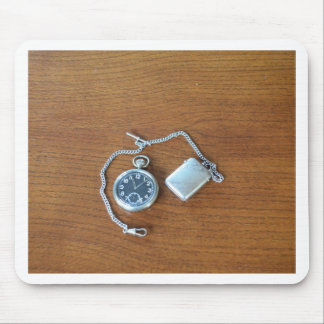 Vintage Swiss Pocket Watch Mouse Pads